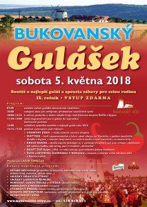 Plakát Bukovanský gulášek 2018